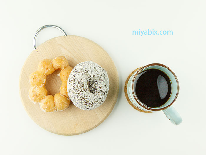 コーヒー,ドーナツ