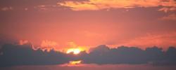 旅人の夕日