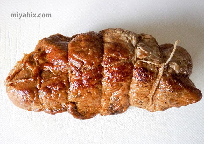 焼豚,チャーシュー,煮豚,タコ糸,ヒモ,結び方