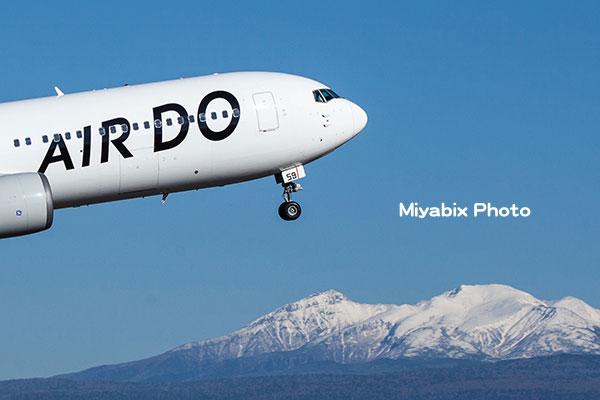 飛行機,十勝連峰,旭川空港,離陸,雪山,航空機