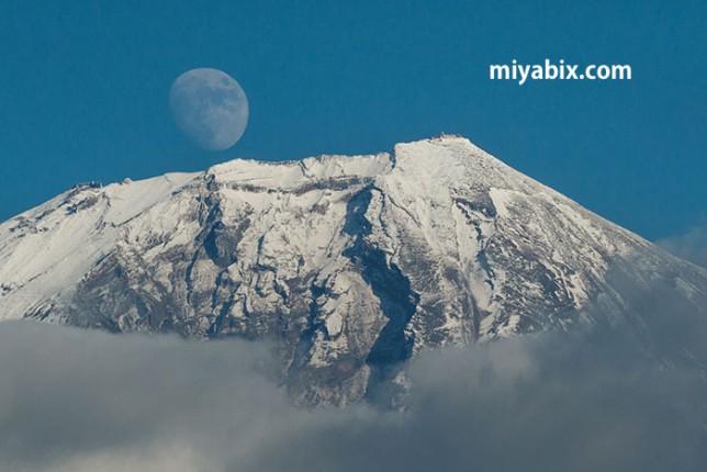 富士山,パール,月,山頂,ダイヤモンド,田貫湖
