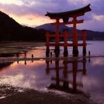 広島,厳島神社,鳥居