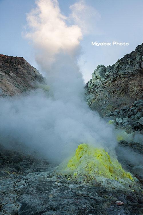 硫黄山,噴火,北海道,温泉