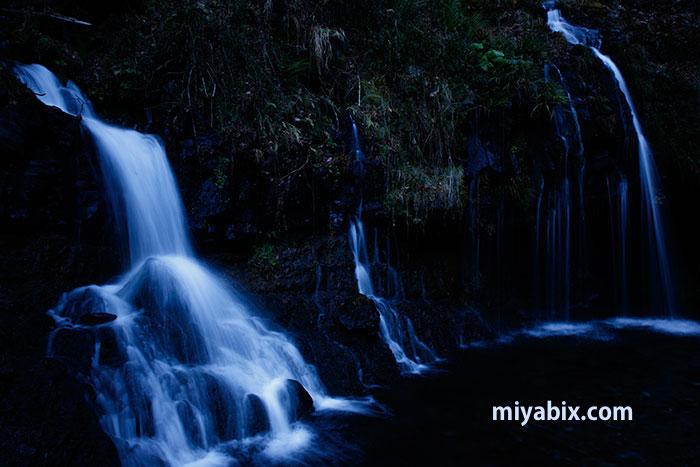 陣馬の滝,じんば,富士山,湧水