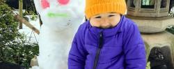 関東でも積雪『念願の雪遊び』2016