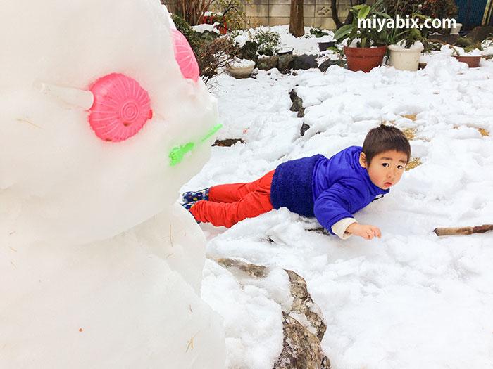 雪遊び,雪だるま