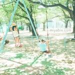 公園,ブランコ,子供