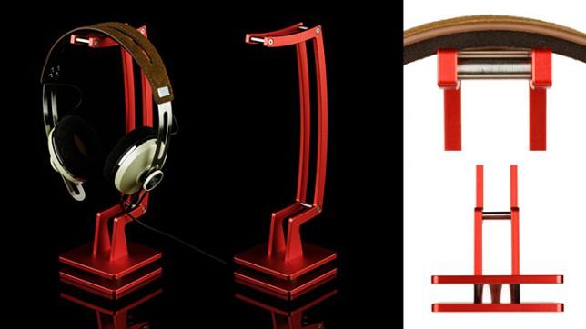ヘッドホンスタンド,IW-HS05-R,猪狩製作所,赤,レッド
