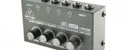 ヘッドフォンアンプ:BEHRINGER『HA400』同じ音源を4人でモニターする