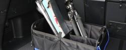 トランクボックス:『Siivton』車用折り畳み式収納箱と『LEEUW』座席隙間ポケット