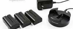 Newmowa『NP-F550 』互換バッテリー:『3個同時充電器セット』レビュー