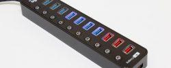 USB3.0ハブ『atolla』電源付:7周辺機器+4充電ポート『独立スイッチ』が便利